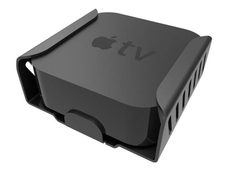 Image of Maclocks New Apple TV (4th Generation) Secure Bracket - Mounting kit (security bracket) for Apple TV - high-grade aluminium - jet black - mounting interface: 75 x 75 mm - for Apple TV (4th generation)