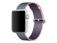Apple 42mm Woven Nylon Band - Watch strap - midnight blue, Light Pink - for Watch (42 mm)