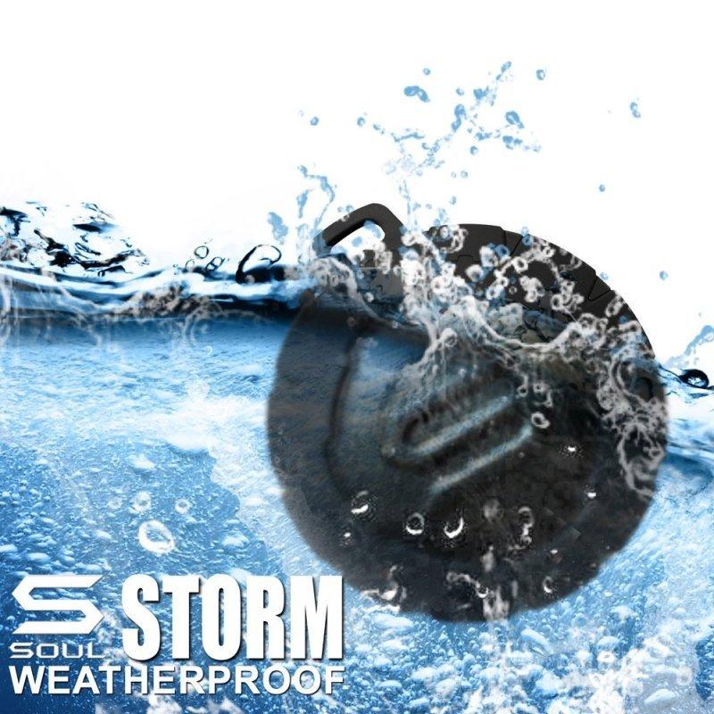 SOUL STORM Waterproof  Wireless Portable Speaker Black