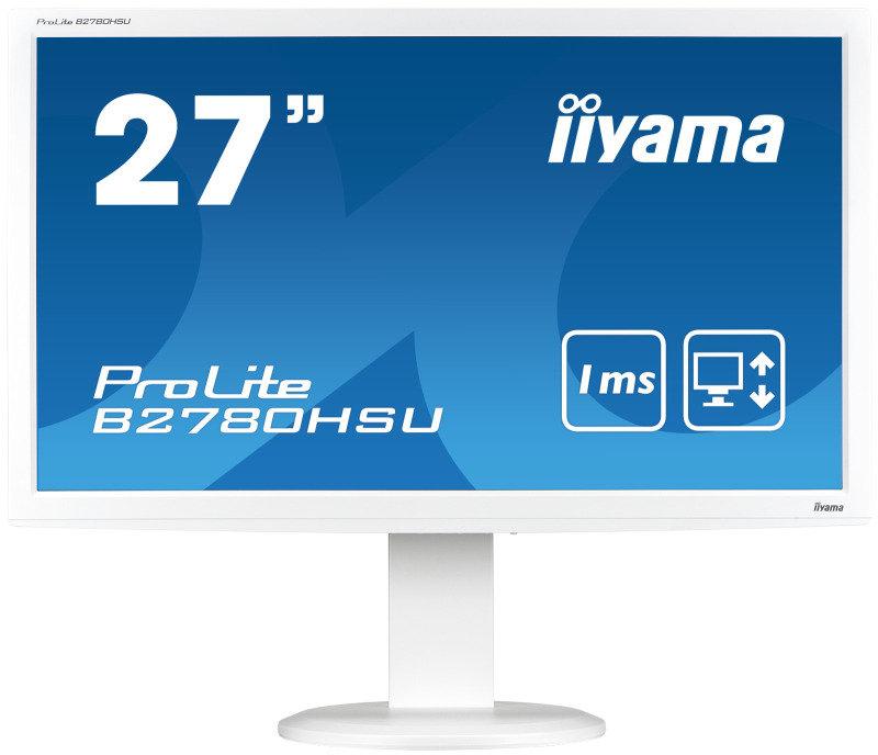 B2780HSU-W1 27 LED White Height Adjustable, USB Ports