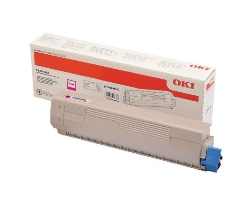 Oki C833/C843 High Yield Magenta Toner 10k
