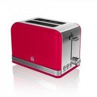 Swan 2 Slice Retro Red Toaster