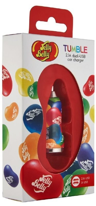 Jelly Belly 2.1 A Dual Port USB Car Charger for Mobiles