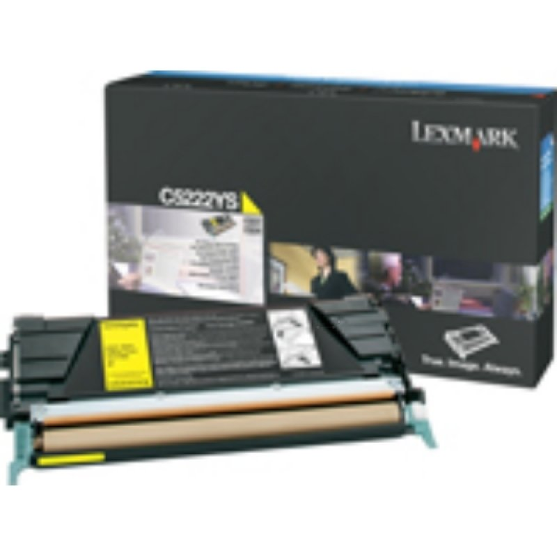 Lexmark Yellow Return Program Toner Cartridge (C522)