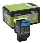 Lexmark 802SCE 2K Cyan Corporate Toner Cartridge