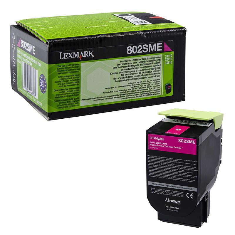 Lexmark 802SME 2K Magenta Corporate Toner Cartridge