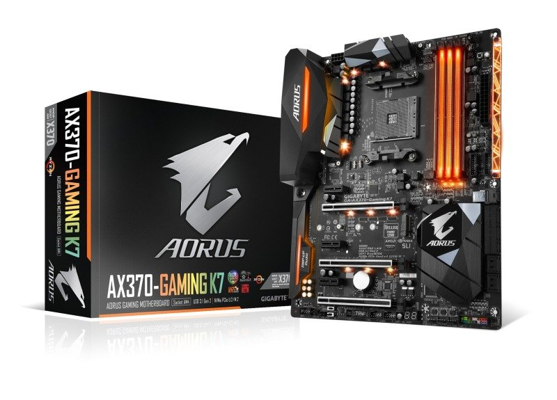 Gigabyte AX370-Gaming K7 AM4 Socket ATX Motherboard