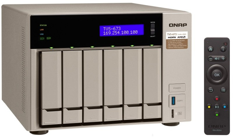QNAP TVS-673-64G 24TB WD RED 6 Bay NAS
