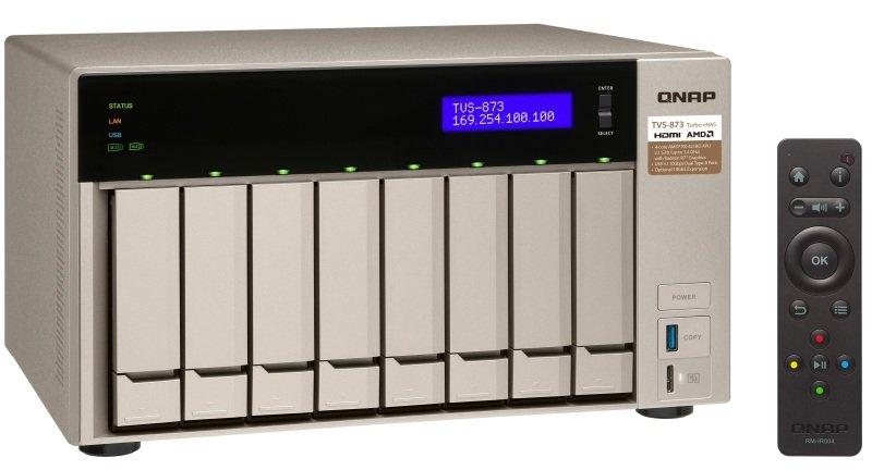 QNAP TVS-873-16G 64TB WD RED 8 Bay NAS