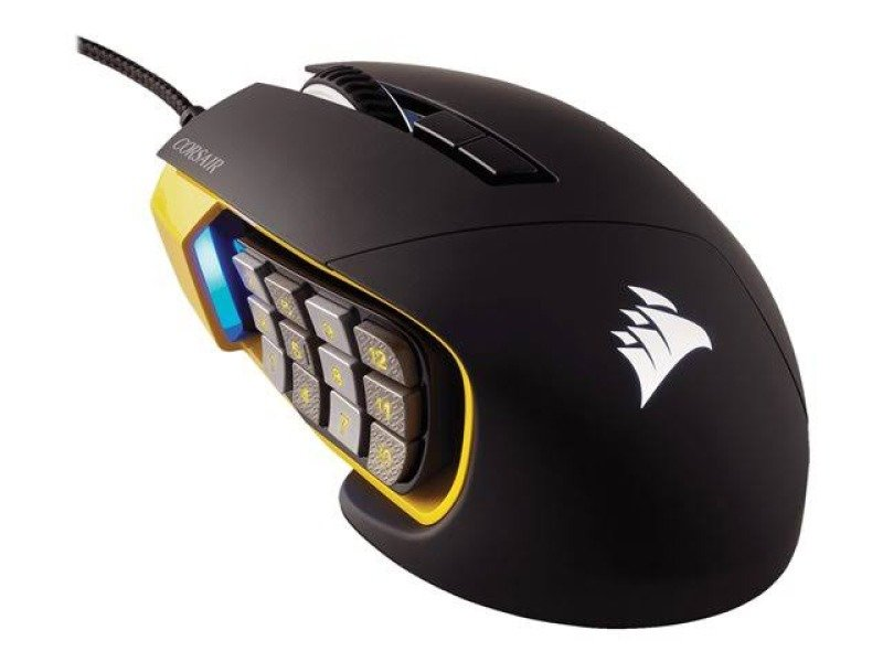 Corsair Scimitar PRO RGB Optical MOBA/MMO Gaming Mouse - Yellow