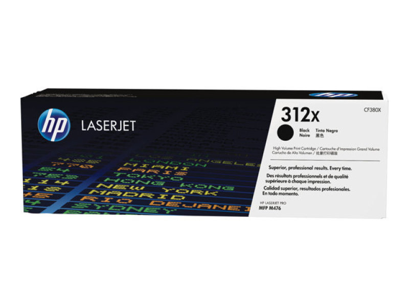 HP 312X Black LaserJet Toner Cartridge - CF380X
