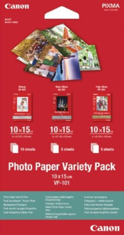 Image of Canon Photo Paper Variety 10x15cm (Pack of 20)