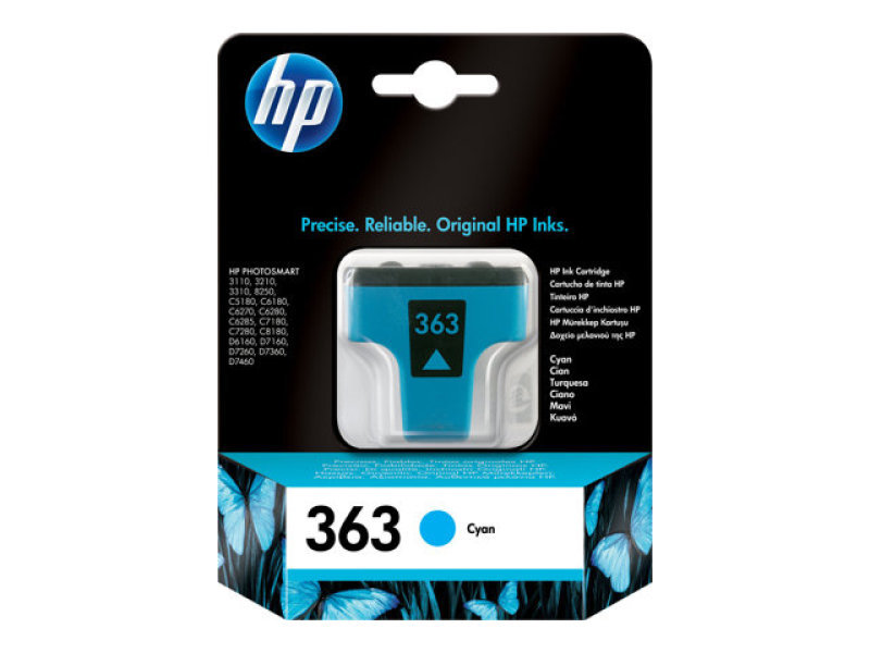 HP 363 Cyan Original Ink Cartridge - C8771EE