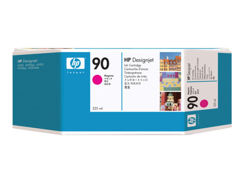 HP 90 Magenta Ink Cartridge - 225ml