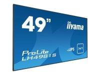 Prolite Lh4981s-b1 49 Slim Bezel Commercial Display 24/7 Usage , Ops Port, Portrait, Dvi, Vga, Hdmi, Composit, Audio, 3 Year Warranty