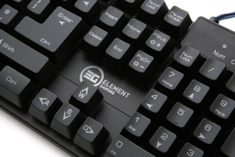 Element Gaming Illuminated Mechanical Feel Gaming Keyboard