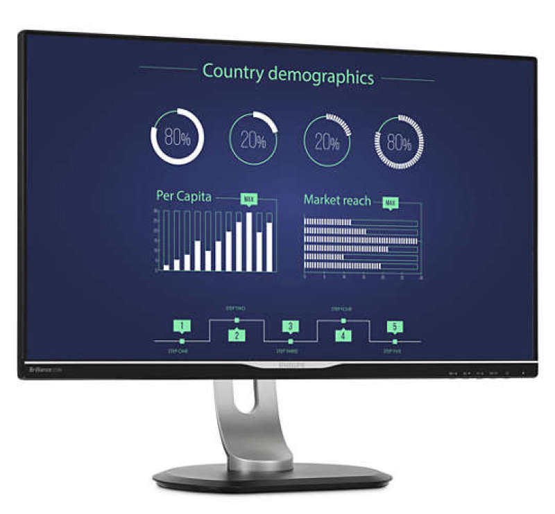 "Philips 258B6QUEB/00 25"" QHD IPS Monitor"