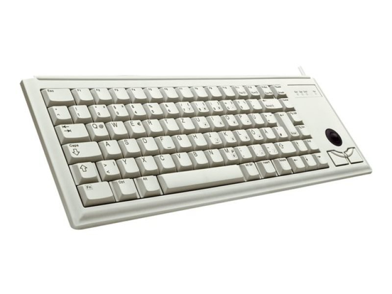 Cherry G84-4400 Compact Keyboard With Integrated Trackball - Light Grey (2 X Ps/2)