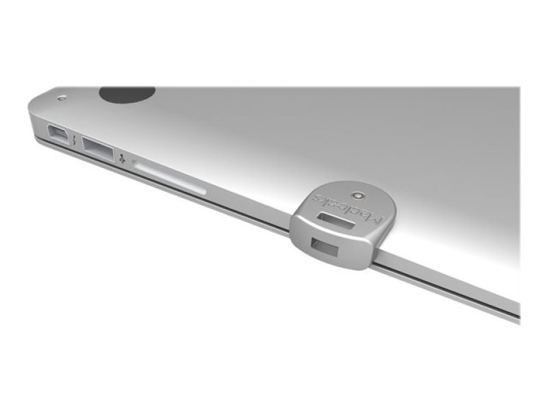 Maclocks The Ledge - Security slot lock adapter - silver - for Apple MacBook Pro with Retina display (13.3 in, 15.4 in)