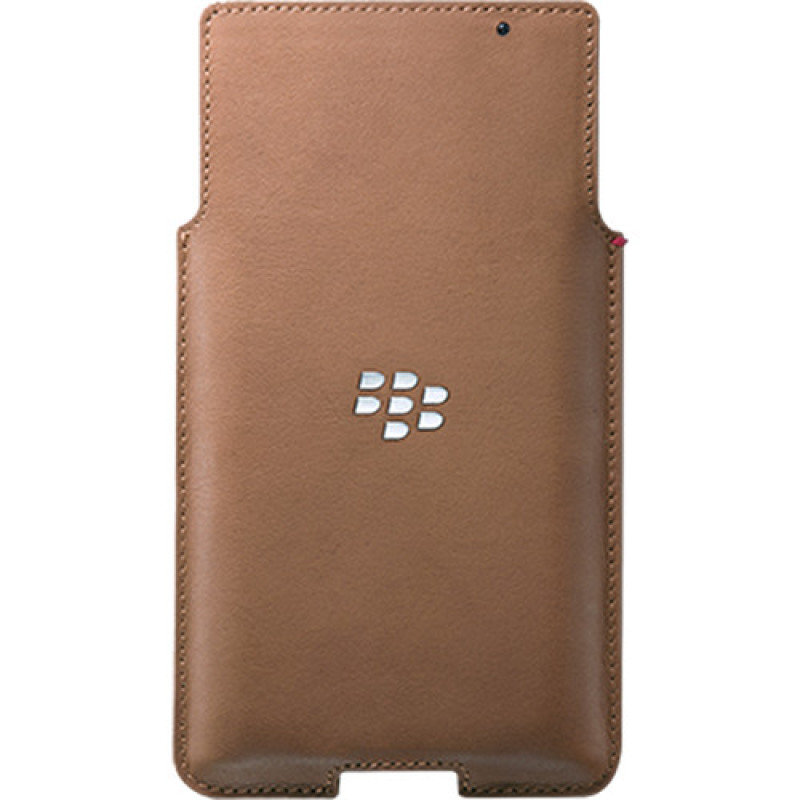 Image of BLACKBERRY PRIV LEATHER POCKET - TAN