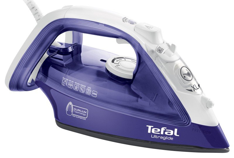 Tefal 2400W Ultraglide Steam Iron White/Blue
