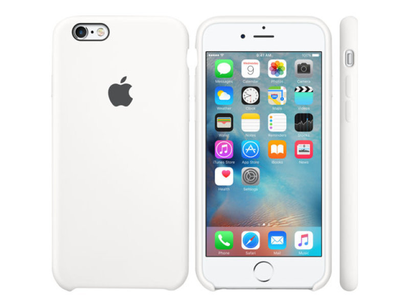 Apple Silicone Back Cover Case for iPhone 6/6S - White