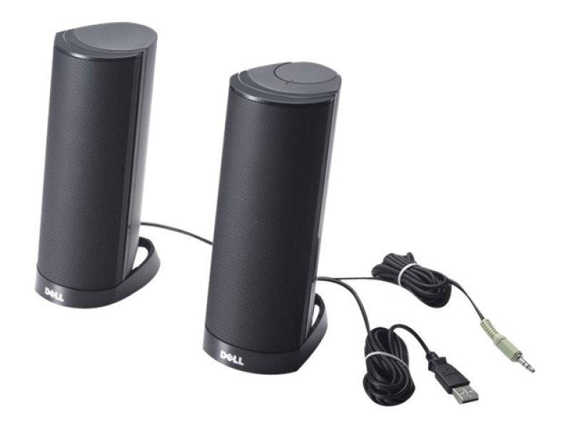 Dell AX210CR - Speakers - for PC - 1.2 Watt (Total) - black - for Inspiron 15 N5040, 15 N5050, 30XX, 3459, 5348, 54XX, 55XX, Vostro 5459