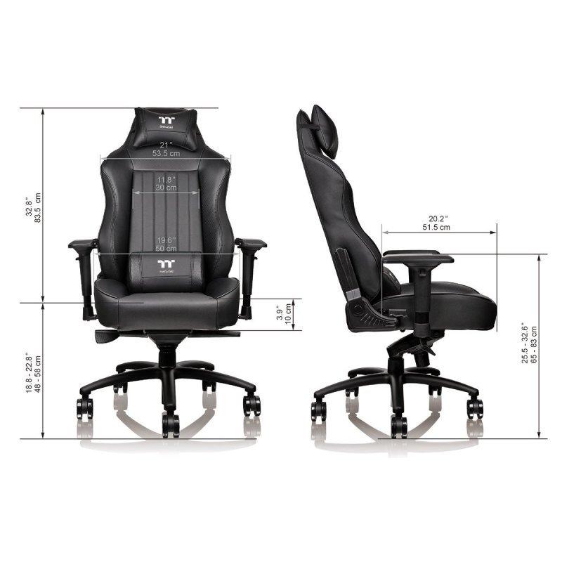 Thermaltake Tt E Sports Xc500 Black Gaming Chair Ebuyer