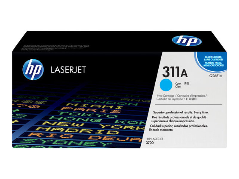 HP 311A Cyan Toner Cartridge 6000 Pages - Q2681A