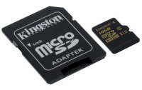 Kingston Gold 16GB UHS-I Speed Class 3 microSD Card + Sd Adapter