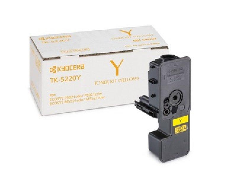 Kyocera TK-5220Y Yellow Toner- 1.2K Yield