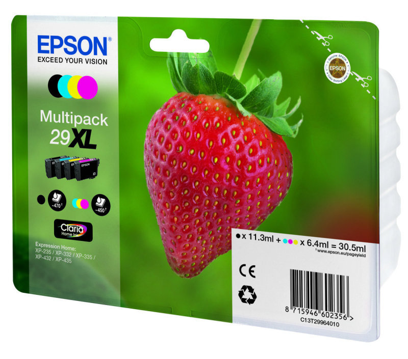 Epson 29XL Strawberry High Yield Multi-Pack Inkjet Cartridges - CMYK