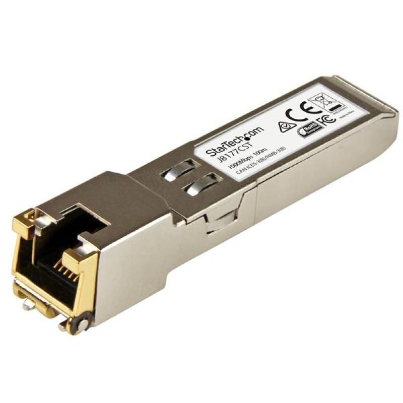 Startech.com Gigabit RJ45 Copper SFP Transceiver Module HP J8177C Compatible