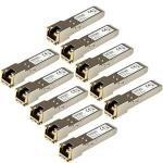 Startech.com Gigabit Rj45 Copper SFP Transceiver Module HP J8177C Compatible 10 Pack