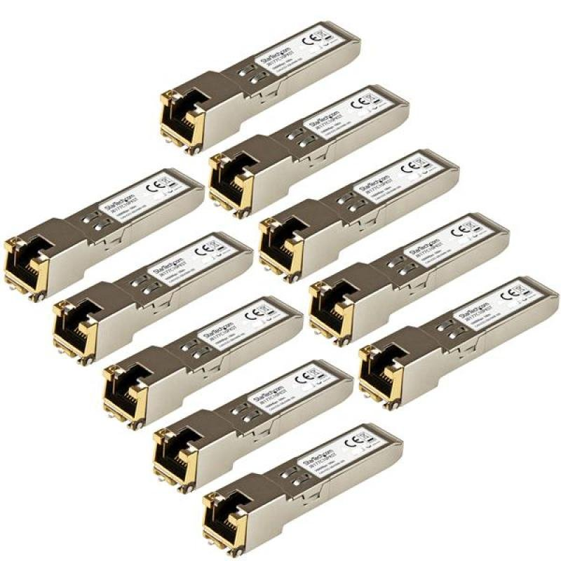 Startech.com Gigabit Rj45 Copper SFP Transceiver Module HP J8177C Compatible 10 Pack
