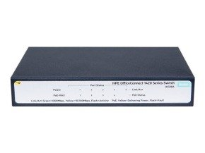 HPE OfficeConnect 1420 5G PoE+ 5 Port Umanaged Switch