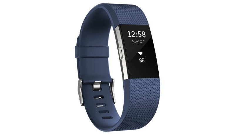 Fitbit Charge 2 Heart Rate and Fitness Tracking Wristband, Large, Blue