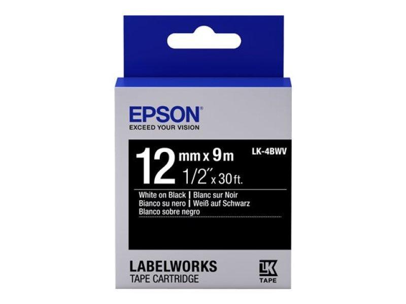 Epson Label Cartridge Vivid LK-4BWV