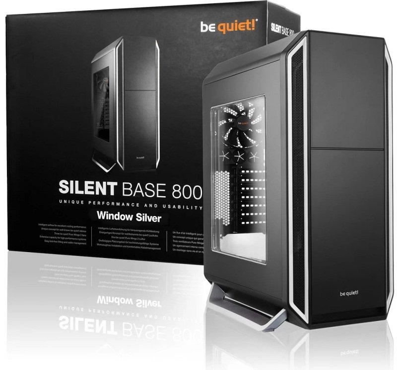 BeQuiet Silent Base 800 Silver Case with Window