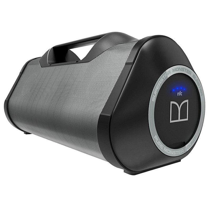 Monster Blaster Bluetooth Boom Box - Black and Grey