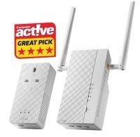 Asus 1200Mbps AV2 1200 Wi-Fi Powerline Adapter Kit