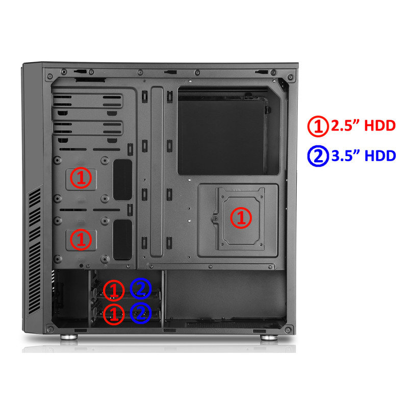 CIT Dark Star Gaming Case With LED Fan and USB