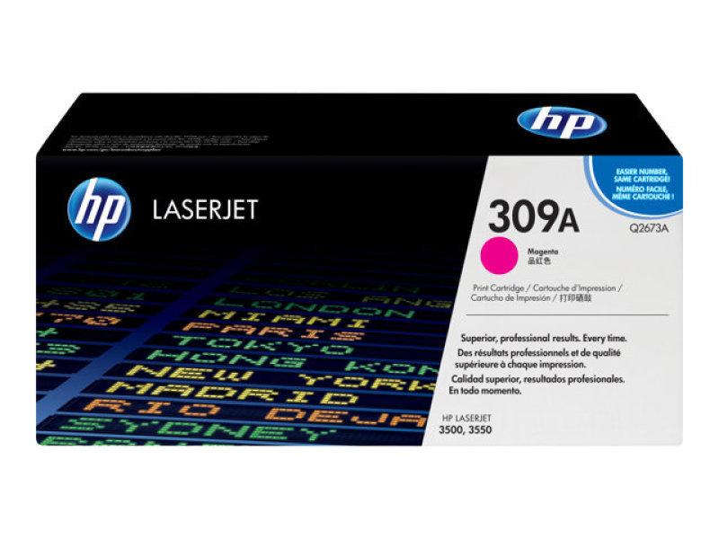 HP 309A Magenta Toner Cartridge 4000 Pages - Q2673A