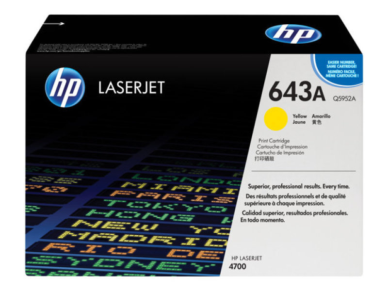 *HP 643A Yellow Toner Cartridge 10,000 Pages - Q5952A