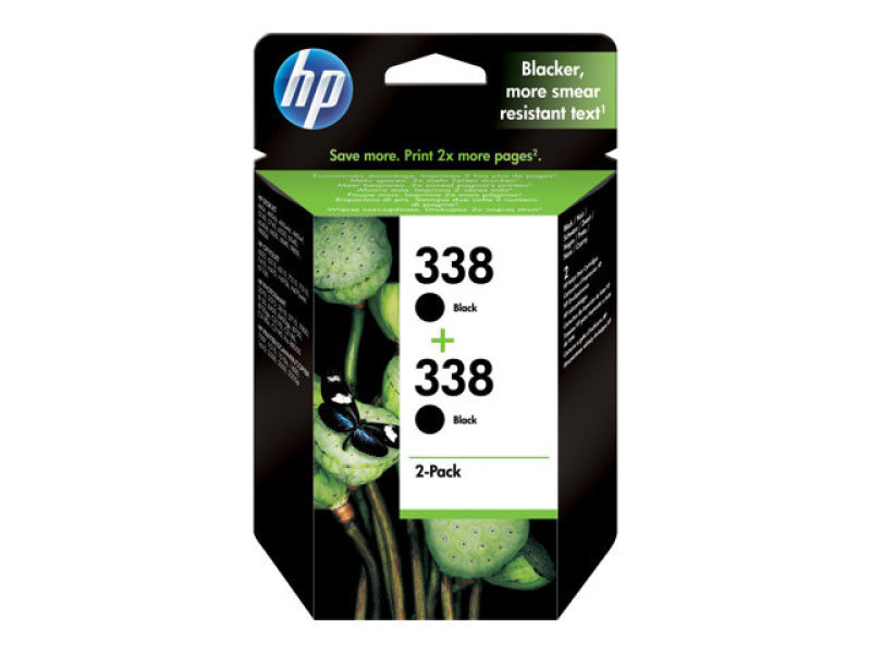 HP 338 Black Ink Cartridge - Twin Pack - CB331EE