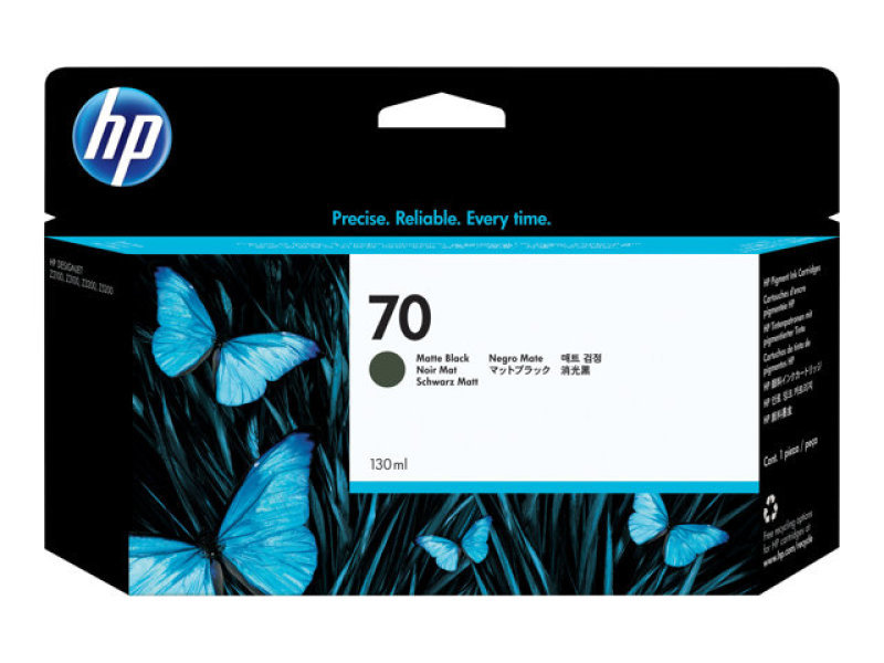 HP 70 Matte Black Ink Cartridge - 130ml - C9448A
