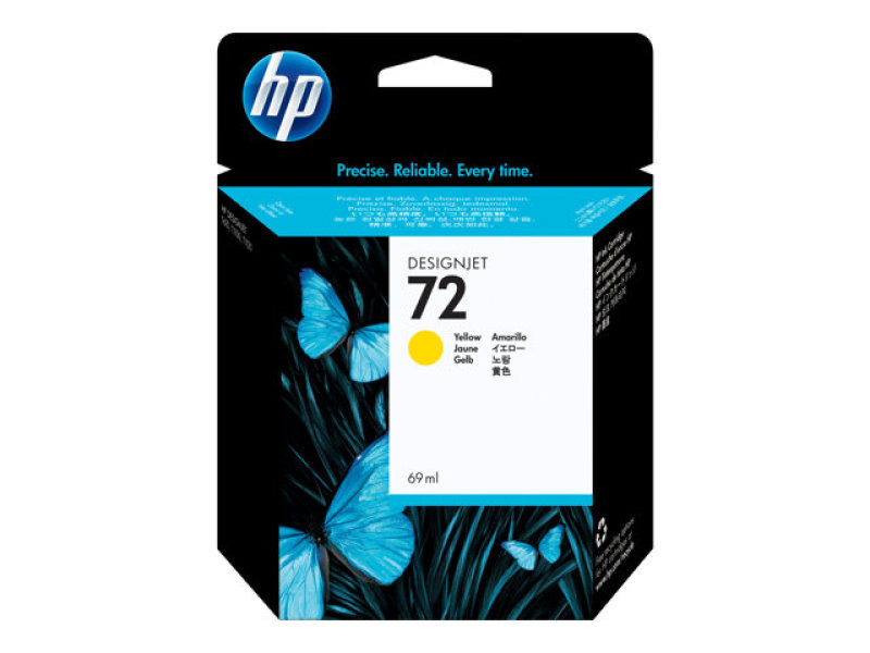 HP 72 69ml Yellow Ink Cartridge with Vivera Ink