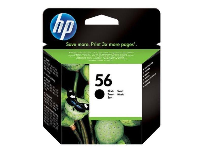 HP 56 Black Ink Cartridge - C6656AE