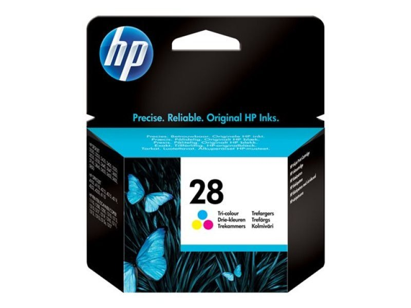 HP 28 - Print cartridge ( replaces HP 27 ) - 1 x colour (cyan, magenta, yellow) - 240 pages