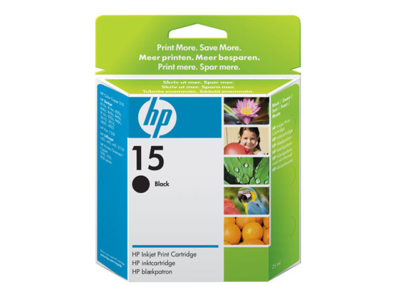 HP 15 Black Ink Cartridge - C6615DE